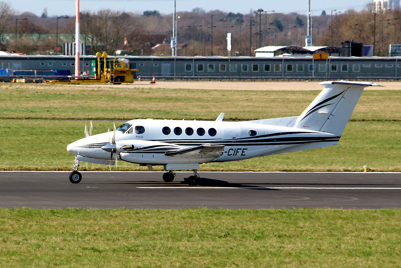 Beech 200 Super King Air G-CIFE.<br /> By Graham Miller.