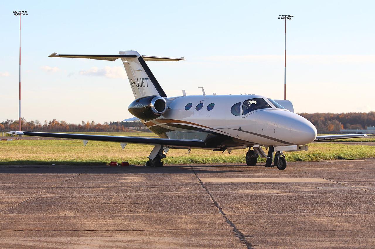 Catreus AOC Ltd, Cessna 510 Citation Mustang, G-JJET<br /> By Graham Miller.