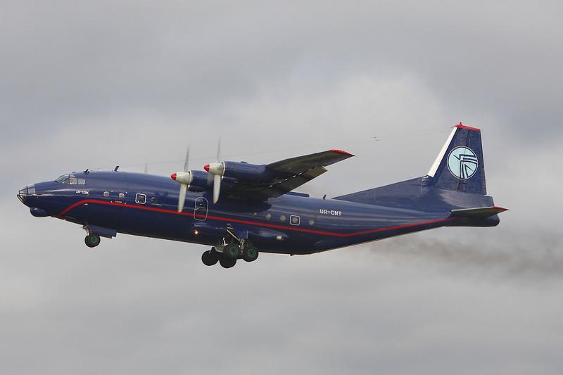 Ukraine Air Alliance An-12BK UR-CNT <br /> By Graham Miller.