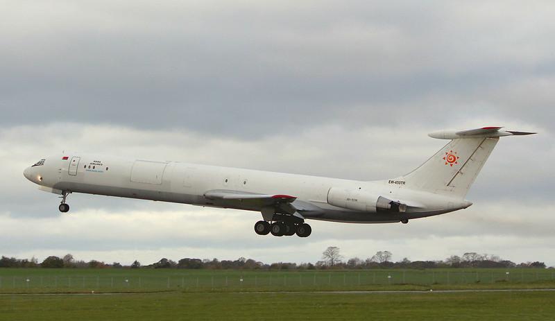 Rada Airlines, Ilyushin IL-62, EW-450TR<br /> By Graham Miller.