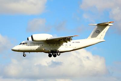 Motor Sich Airlines Antonov An-74TK UR-74026 made a return visit late afternoon. By Graham Miller.