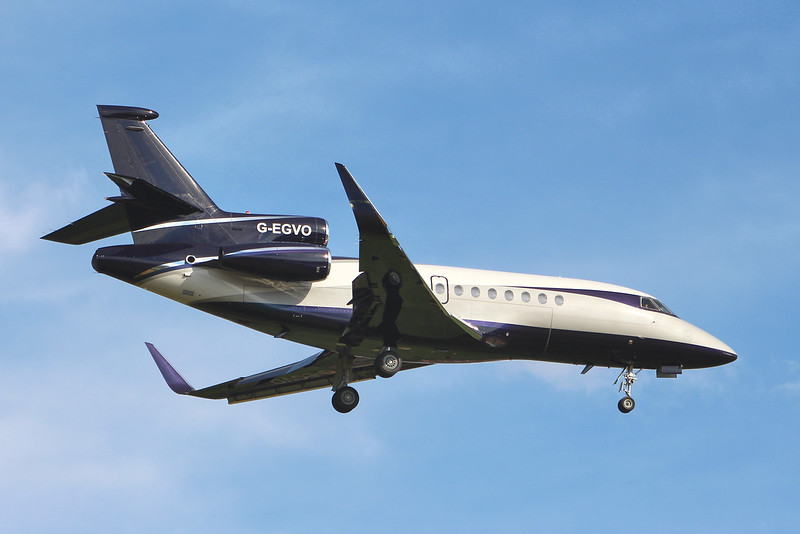 TAG Aviation Falcon 900EX G-EGVO.<br /> By Graham Miller.