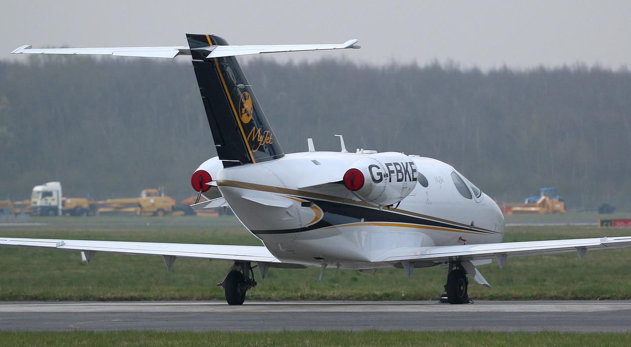 Blink Ltd, Cessna 510 Citation Mustang, G-FBKE<br /> By Correne Calow.