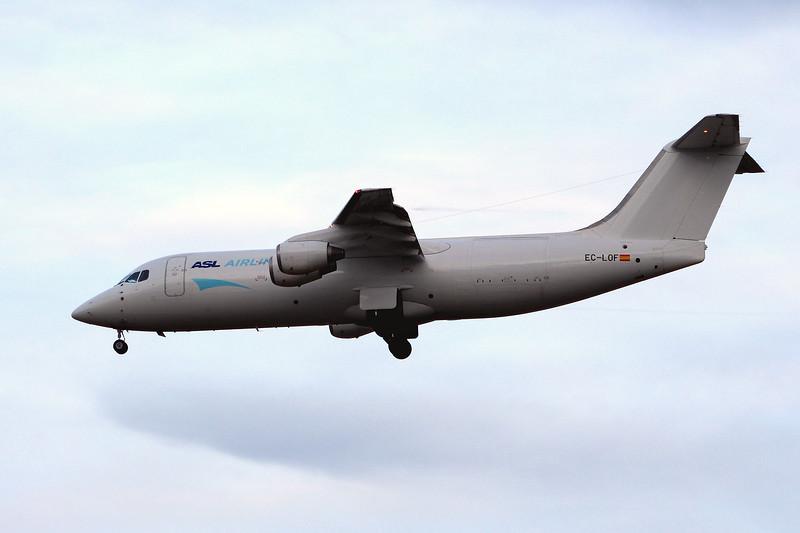ASL Airlines Spain, BAe 146-300(QT), EC-LOF<br /> By Graham Miller.