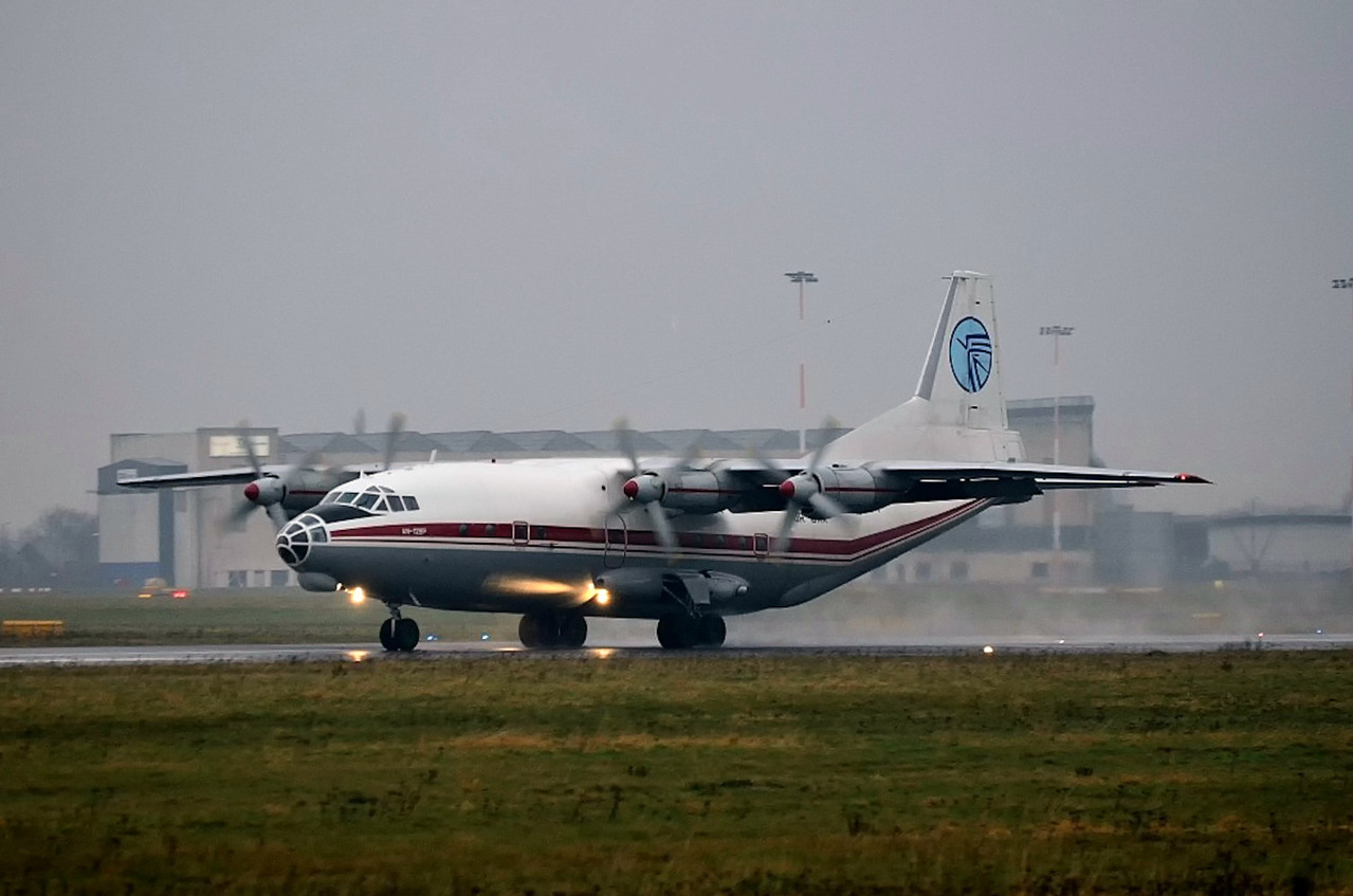 Ukraine Air Alliance Antonov An-12BP UR-CAK.<br /> By Andrew Exton.