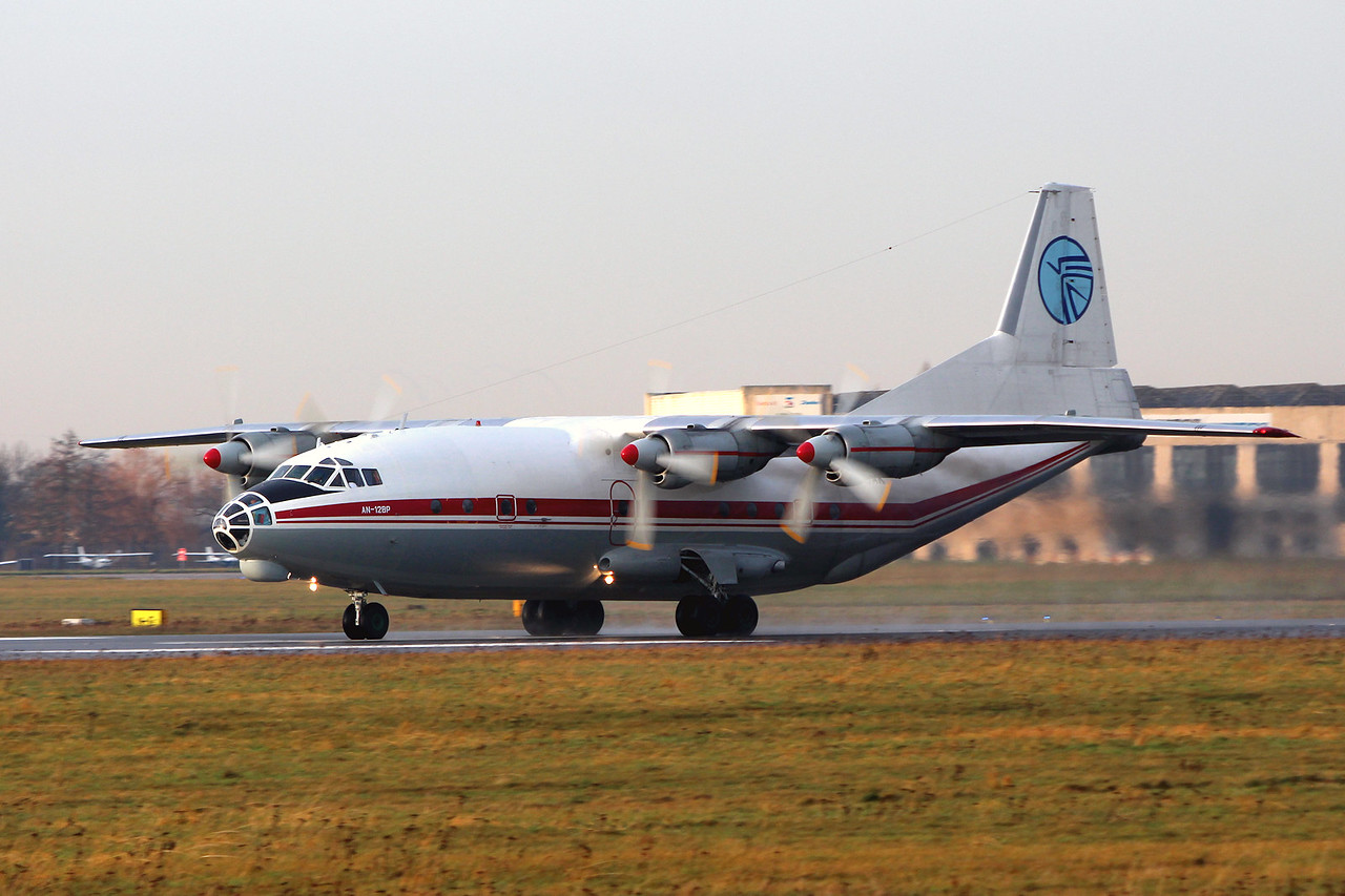 Ukraine Air Alliance Antonov An-12BP UR-CAK departing for Khartoum<br /> By Graham Miller.