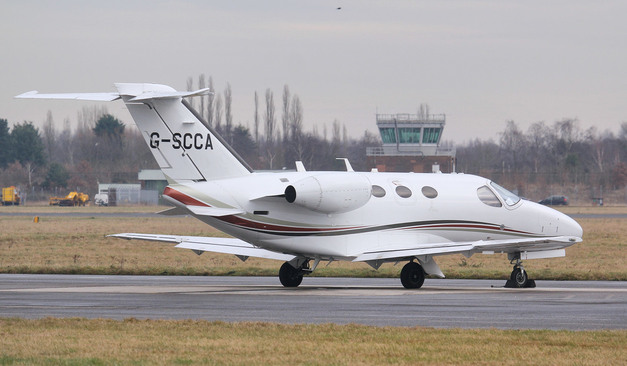 Synergy Aviation Cessna 510 Mustang G-SCCA.<br /> By Jim Calow.