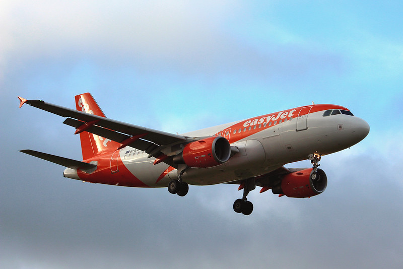 easyJet, A319, G-EZFP was training for several hours.<br /> By Graham Miller.