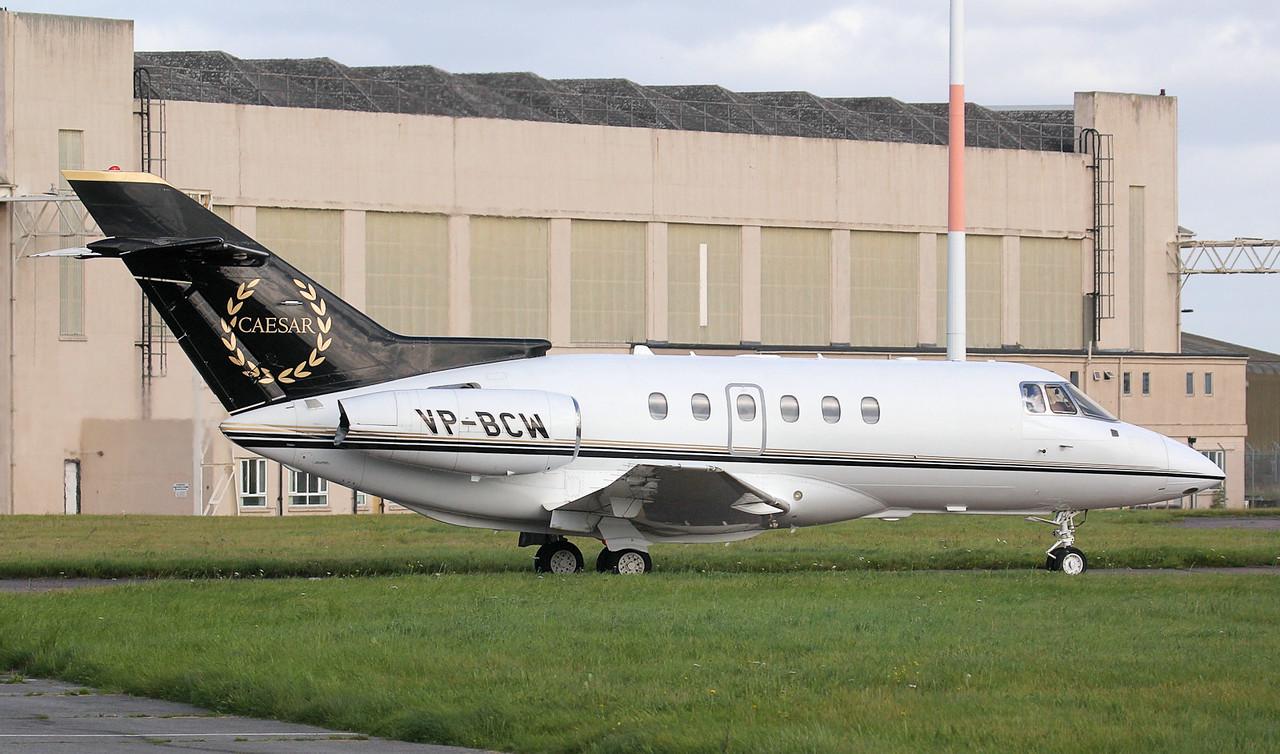 Jadayel Aviation, Hawker 800XP, VP-BCW.<br /> By Jim Calow.