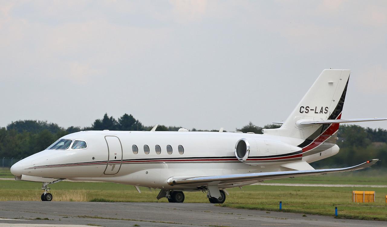 Netjets Europe, Cessna 680A Citation Latitude, CS-LAS<br /> By Correne Calow.