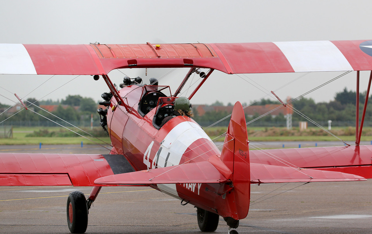TG Aviation, Stearman ST75, G-BTFG left at 1100 and arrived safely in Carlisle before 1500.<br /> By Correne Calow.