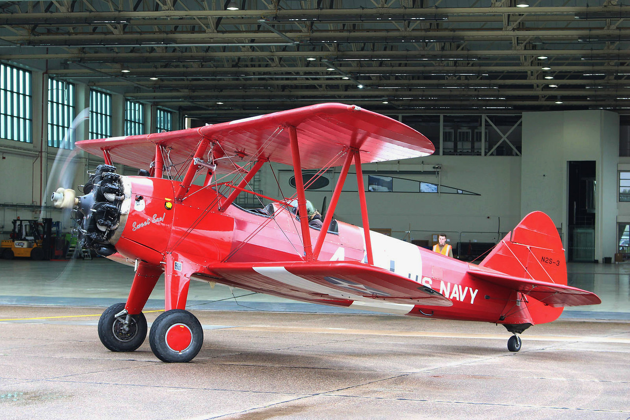 TG Aviation, Stearman ST75, G-BTFG; engine start<br /> By Graham Miller.
