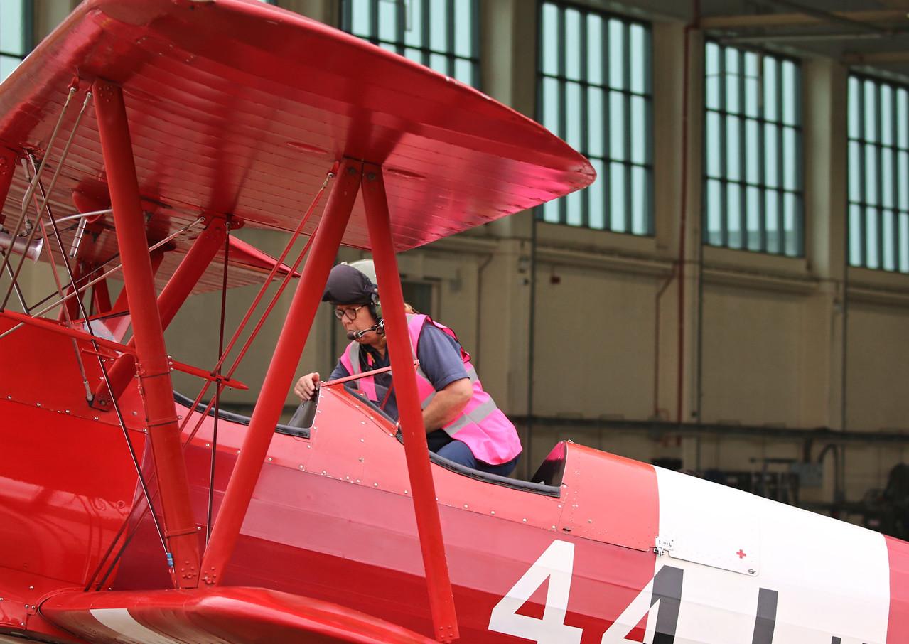 TG Aviation, Stearman ST75, G-BTFG and Sue Girdler<br /> By Correne Calow.