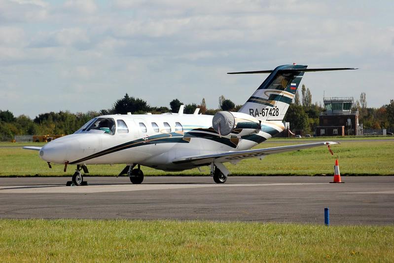 Jet Travel Club, Cessna 525 CitationJet CJ1 RA-67428<br /> By Clive Featherstone.