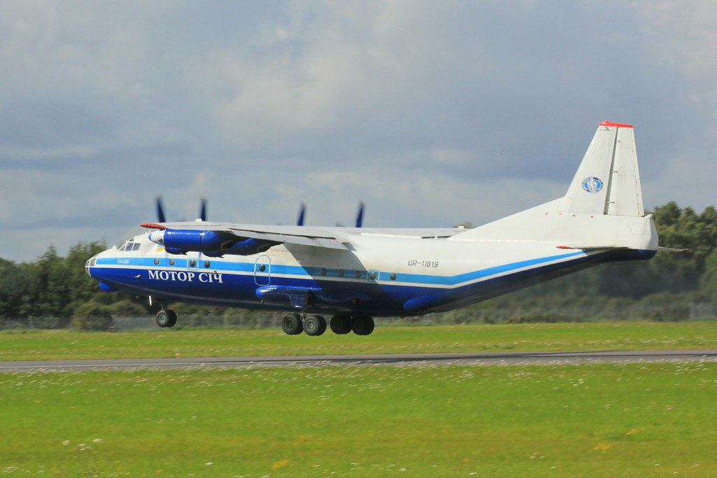 Motor-Sich Antonov An-12BP, UR-11819<br /> By Clive Featherstone.