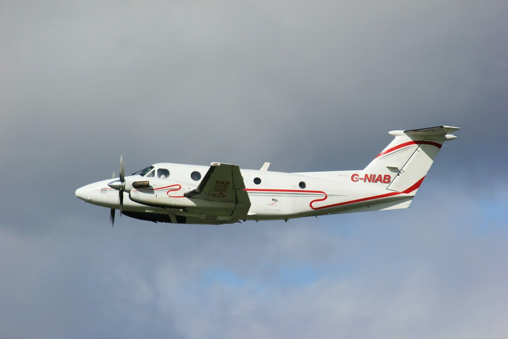 Woodgate Aviation Beech 200 Super King Air G-NIAB.<br /> By Clive Featherstone.