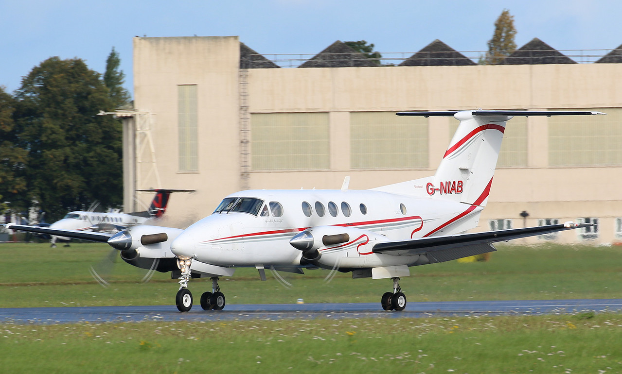 Woodgate Aviation Beech 200 Super King Air G-NIAB.<br /> By Correne Calow.