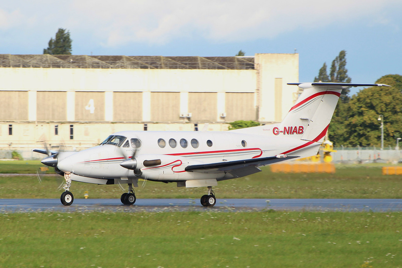 Woodgate Aviation Beech 200 Super King Air G-NIAB.<br /> By Graham Miller.
