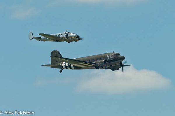 Beech C-45 and Douglas C-47