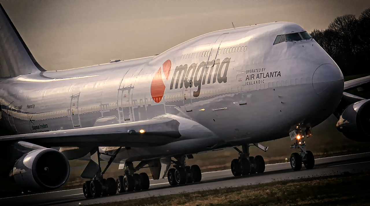 Magma (Air Atlanta Icelandic) 747-400F, TF-AMP<br /> By Jim Calow.