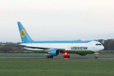 Uzbekistan Airways, 767-300F, UK67001 By Clive Featherstone.