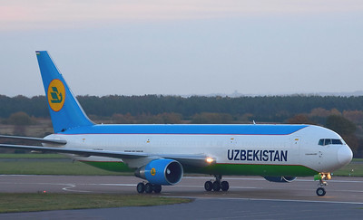 Uzbekistan Airways 767-300F UK67001 By Ray Spencer.