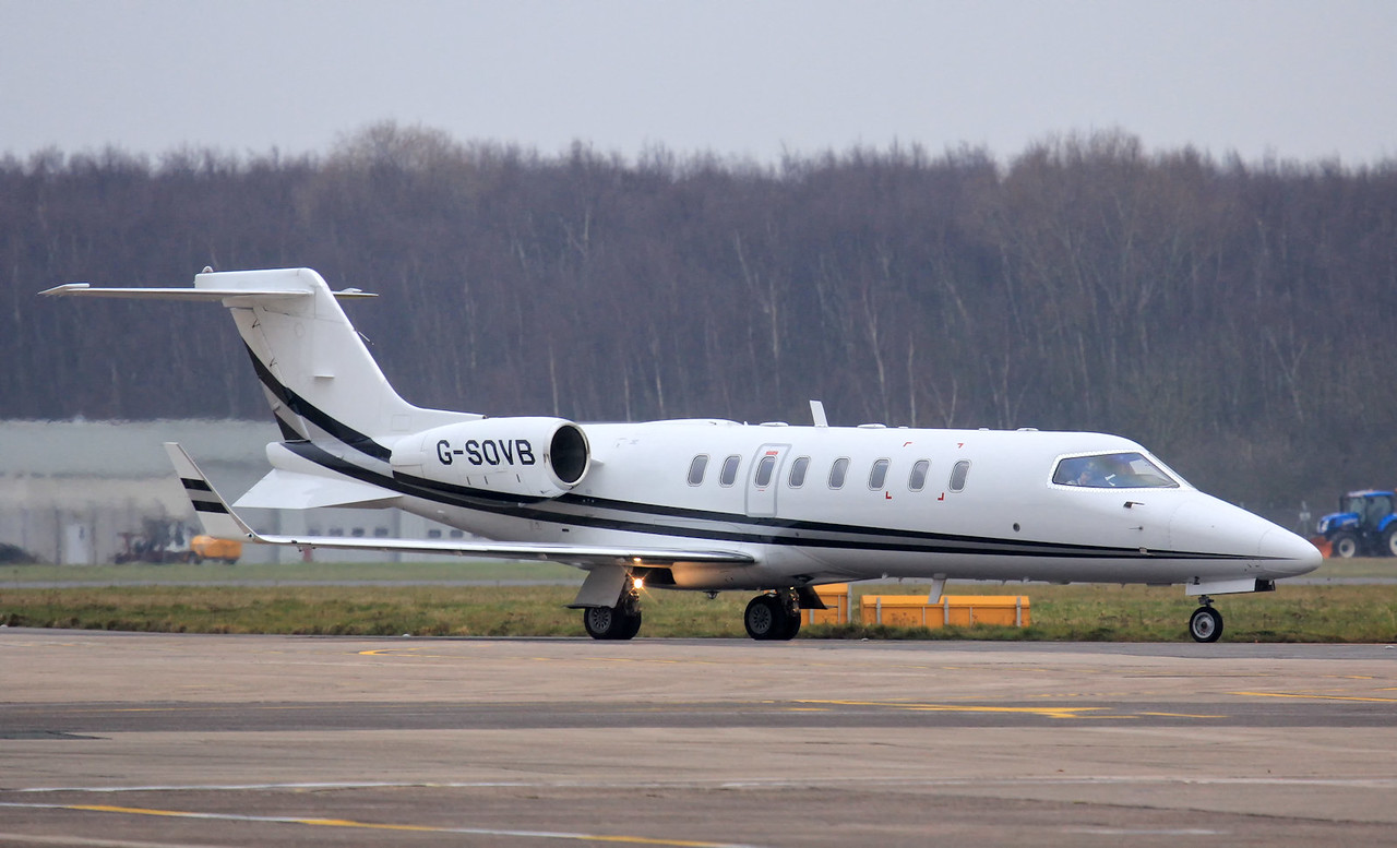 Zenith Aviation, Learjet 45, G-SOVB<br /> By Jim Calow.