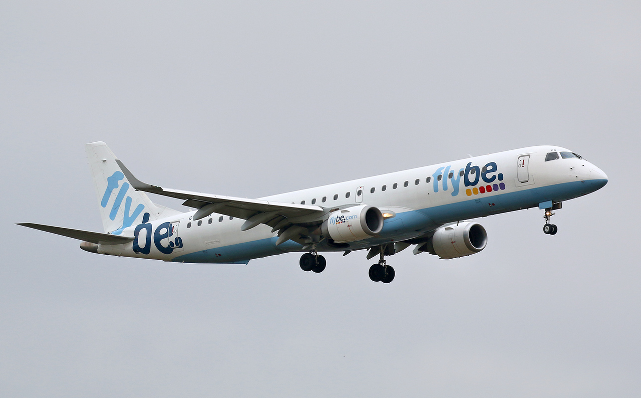 Stobart Air (chartered from Flybe), Embraer ERJ-195LR, G-FBEH<br /> By Correne Calow.
