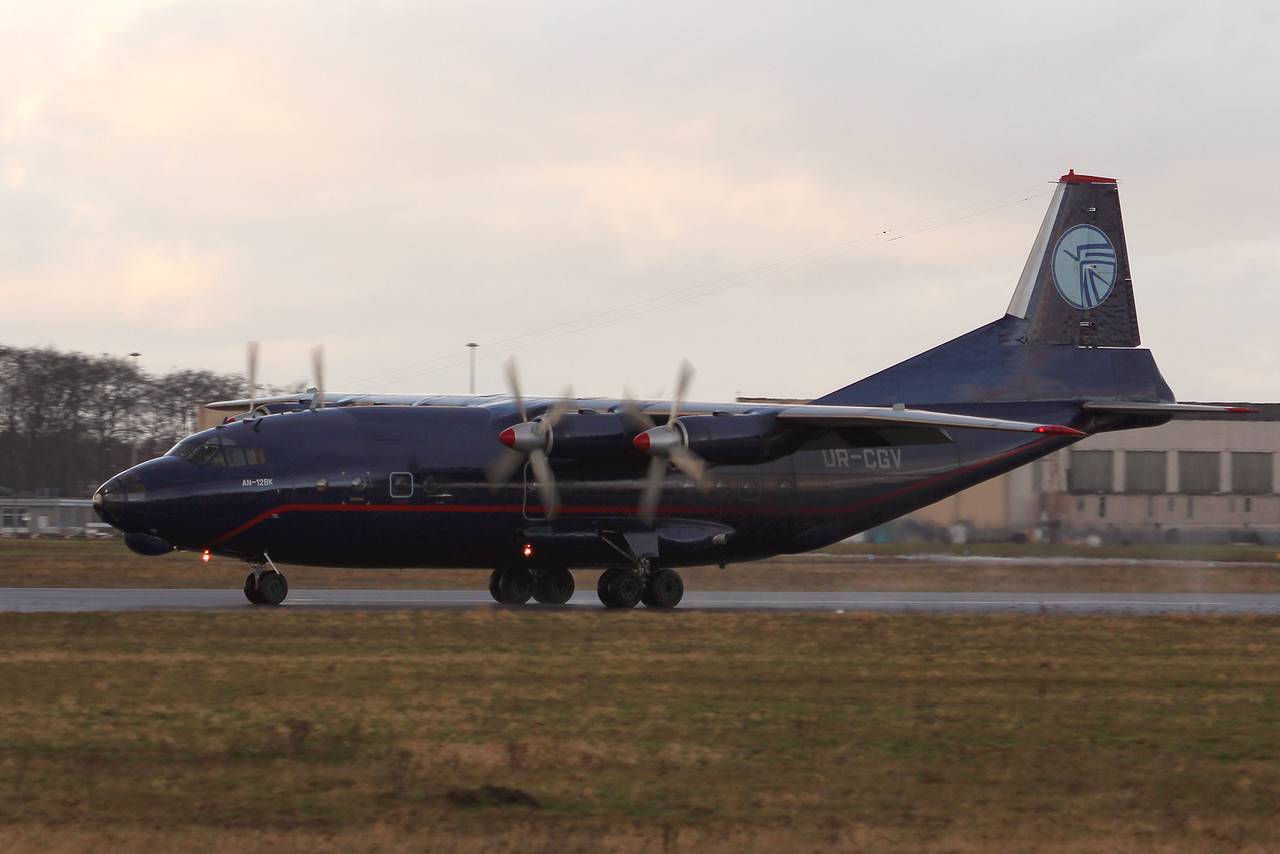 Ukraine Air Alliance (UAA) Antonov An-12BK, UR-CGV<br /> By Graham Miller.
