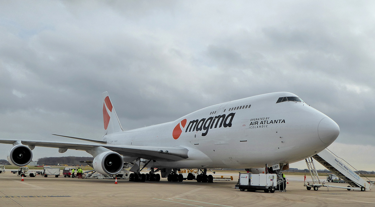 Magma (Air Atlanta Icelandic) 747-400F, TF-AMP<br /> By Correne Calow.