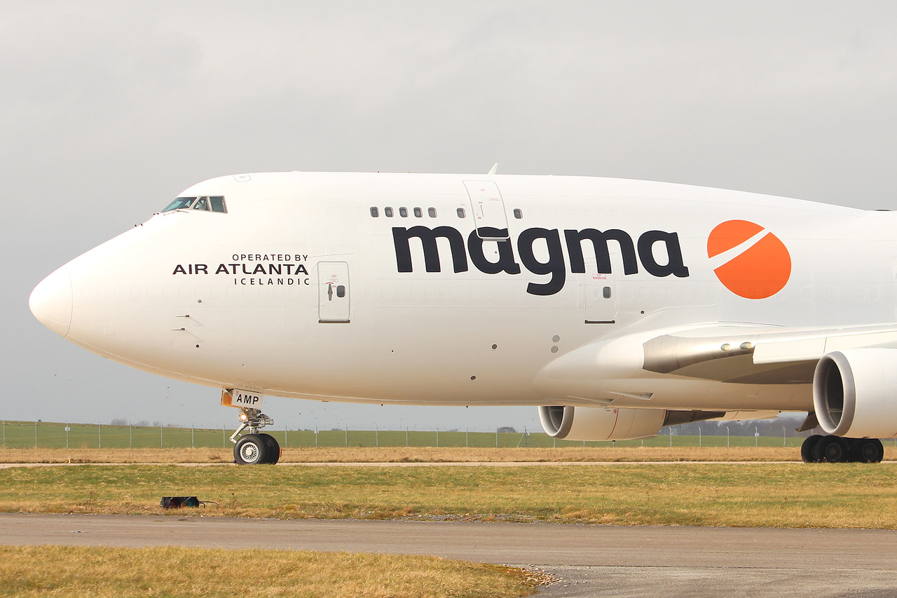 Magma (Air Atlanta Icelandic) 747-400F, TF-AMP<br /> By Graham Miller.
