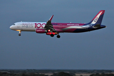 Wizz Air, A321, HA-LTD  (100 Livery) By Graham Miller.