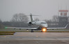 VistaJet, Bombardier Challenger 350 , PH-VCJ diverted from Leeds due to snow.<br /> By Correne Calow.