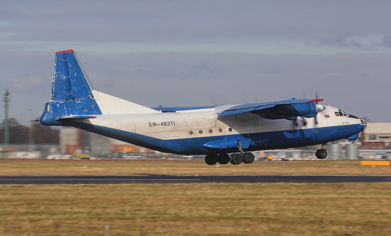 RubyStar, Antonov An-12BK, EW-483TI <br /> By Jim Calow.