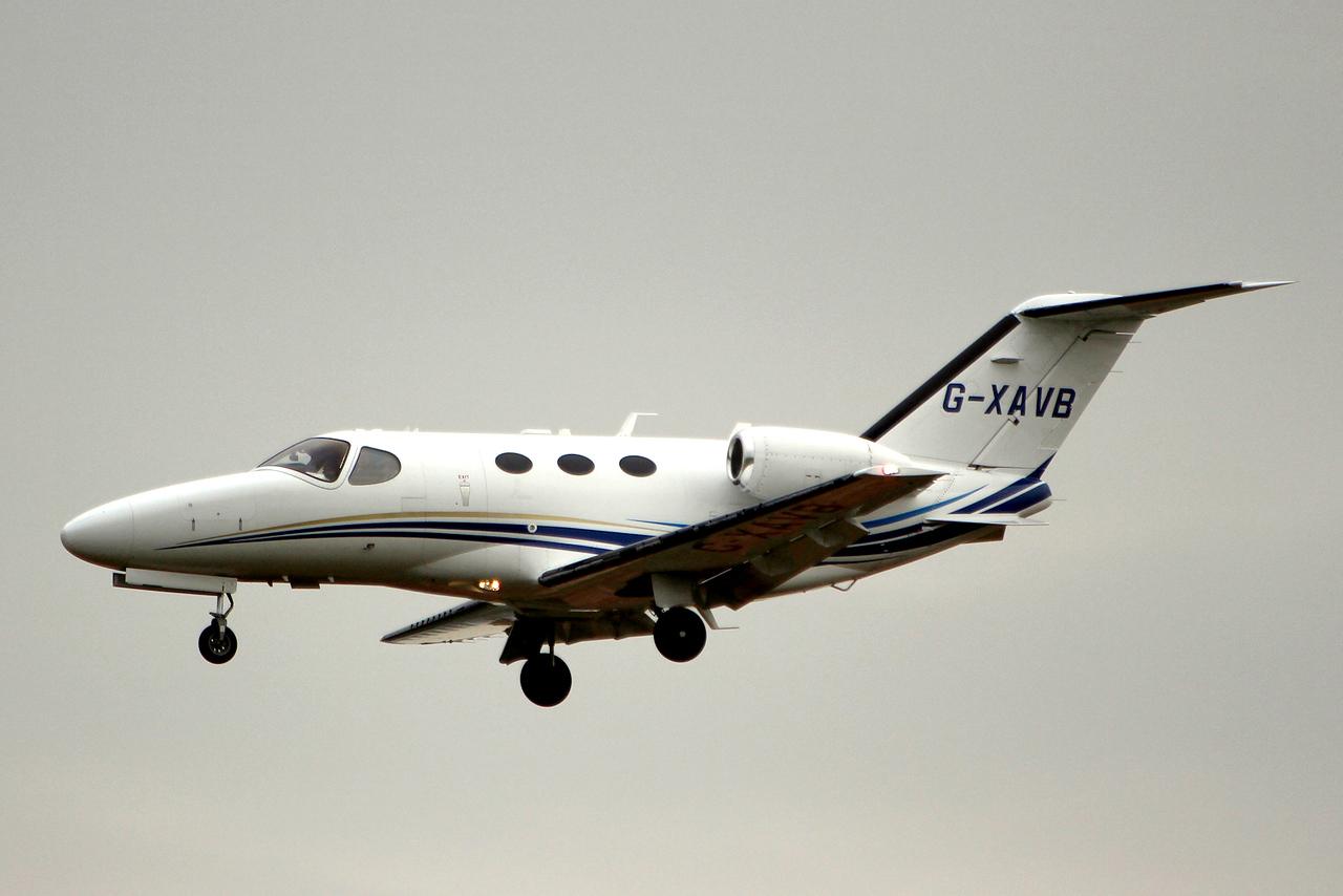 Aviation Beaufort Cessna 510 Citation Mustang G-XAVB<br /> By Graham Miller.