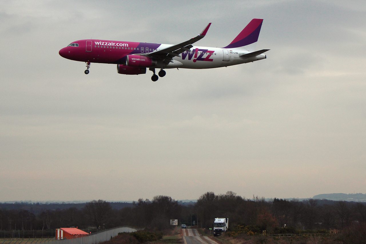 Wizz Air, A319, HA-LYB<br /> By Graham Miller.