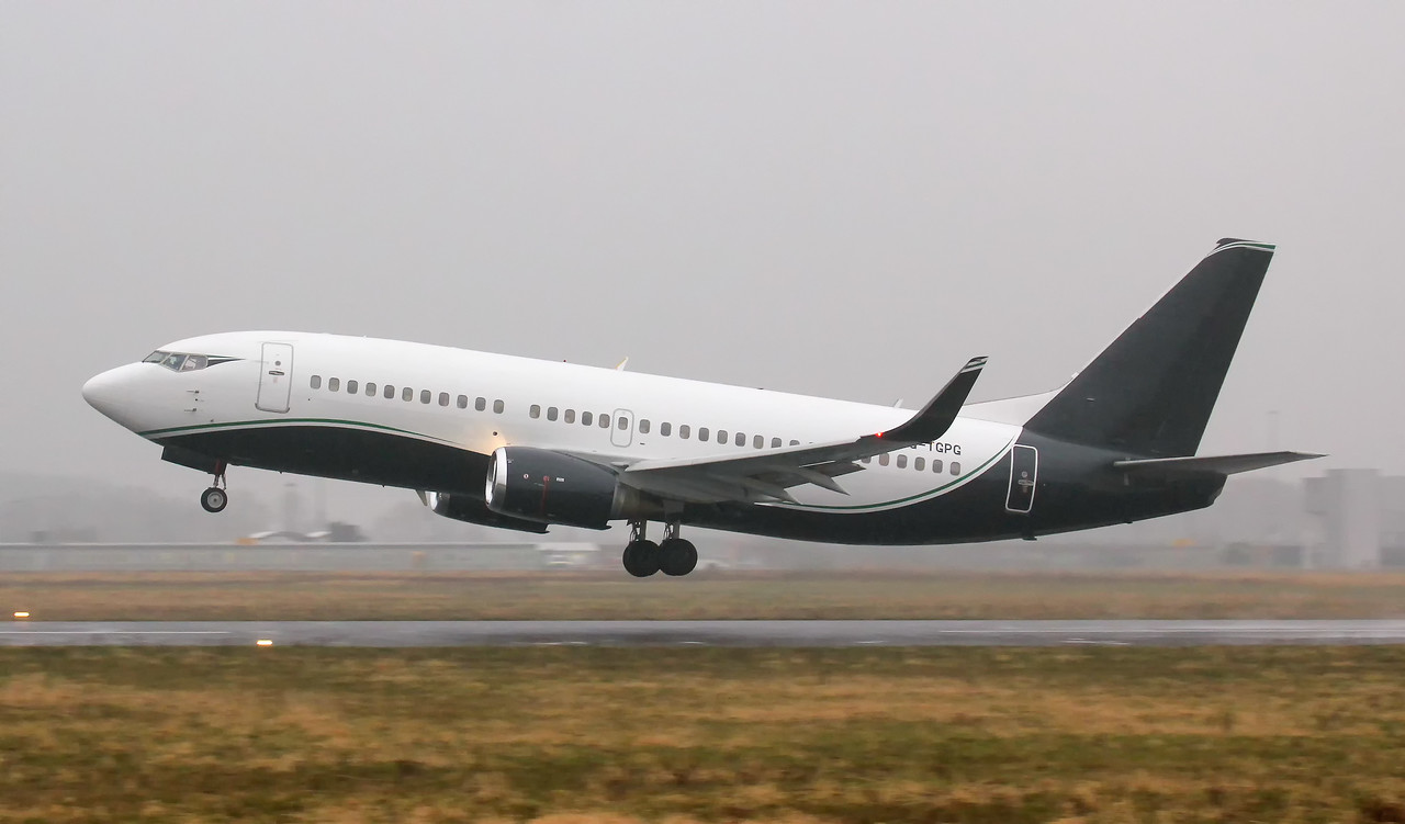 TAG Aviation, 737-300, G-TGPG<br /> By Jim Calow.