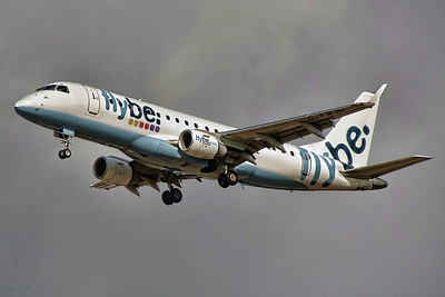 Flybe ERJ-175STD G-FBJH arriving from Paris. By Tony Lowther.