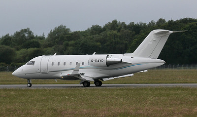 Gama Aviation Challenger 605 G-DAYR. By Jim Calow.