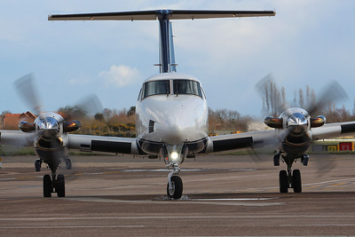 Fly Wales, Beech 200 Super King Air, G-FLYK By Graham Miller.