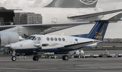 Fly Wales Beech 200 Super King Air G-FLYK (ex D-IKOB). By Jim Calow.
