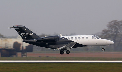 Luxaviation Cessna 525A Citationjet CJ2+ OO-KOR. By Jim Calow.