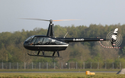 Robinson R44 Raven I, G-MAXD will stand for a short while at Hummingbird Helicopters whilst G-FCUM is away for maintenance. By Correne Calow.