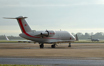 Bombardier CL-600-2B16 Challenger 650, HB-JBF around 08:00hrs By Correne Calow.