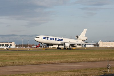 Western Global Airlines MD11F N545JN. By Clive Featherstone.