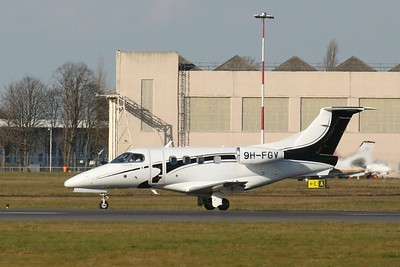 Luxwing Embraer EMB-500 Phenom 100, 9H-FGV By Clive Featherstone.