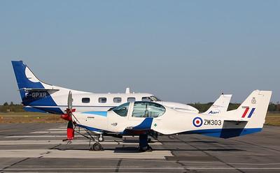 Fairchild Swearingen SA226-T Merlin III, F-GPXR and  RAF, Grob Prefect T1, ZM303 By Correne Calow.