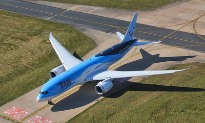 TUI Airways 787-800 G-TUII waits to enter the runway at Charlie 1 By Jim Calow.