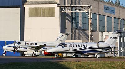 2Excel Aviation, Beech 200 Super King Air, G-FSEU and 2-RBTS Limited, Cessna 525B CitationJet CJ3 , 2-RBTS By Correne Calow.