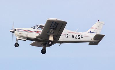 Piper PA-28R Cherokee Arrow II, G- AZSF. By Jim Calow.